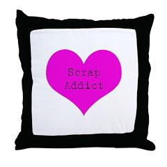 Scrapbooker - Scrap Adict Throw Pillow