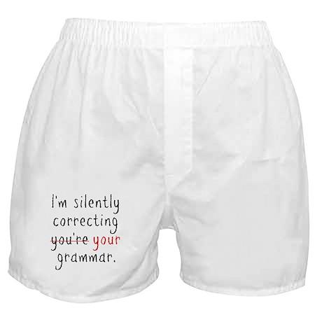 Grammar Nazi Boxer Shorts