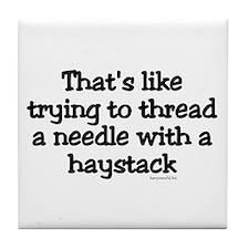 Threading a Needle Tile Coaster