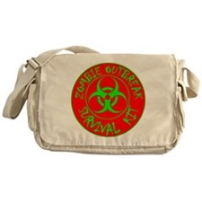 Zombie Outbreak Survival Kit Messenger Bag