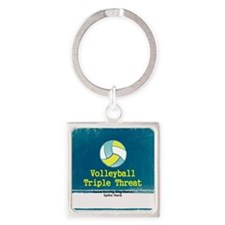 TOP Volleyball Slogan Square Keychain