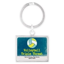 TOP Volleyball Slogan Landscape Keychain