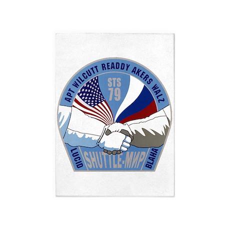 STS 79 Atlantis 5u0027x7u0027Area Rug