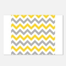 Yellow and Grey Chevron Postcards (Package of 8)