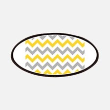 Yellow and Grey Chevron Patches