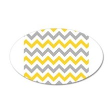 Yellow and Grey Chevron Wall Sticker