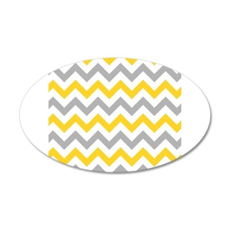 yellow and grey chevron wall sticker by admin cp49789583