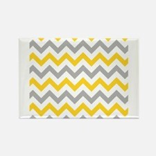 Yellow and Grey Chevron Magnets