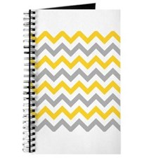 Yellow and Grey Chevron Journal