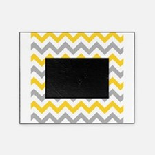 Yellow and Grey Chevron Picture Frame