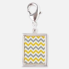 Yellow and Grey Chevron Charms