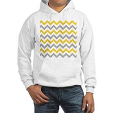 Yellow and Grey Chevron Jumper Hoody
