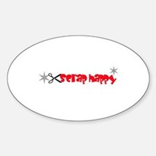 Scrap Happy - Scrapbooking Oval Decal