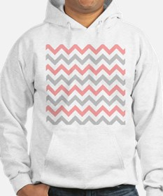 Coral and Grey Chevron Jumper Hoody
