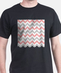 Coral and Grey Chevron T-Shirt
