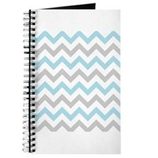 Blue and Grey Chevron Journal