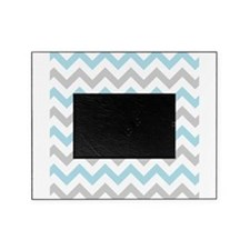 Blue and Grey Chevron Picture Frame