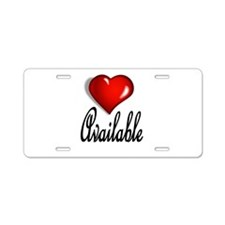 AVAILABLE Aluminum License Plate