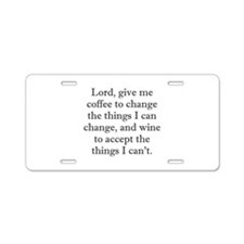 Lord Coffee Wine Aluminum License Plate