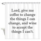 Christian wine Shower Curtains