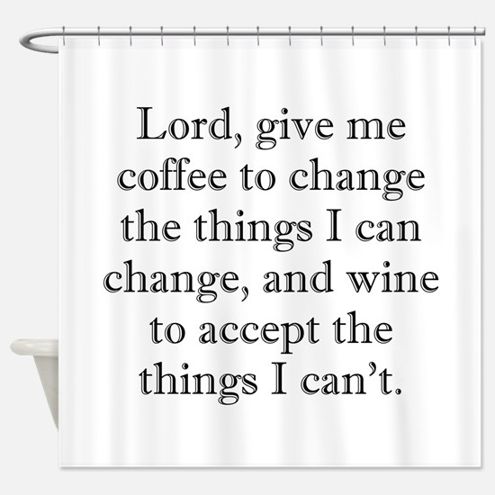 Lord Coffee Wine Shower Curtain