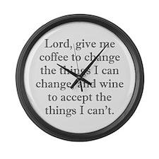 Lord Coffee Wine Large Wall Clock