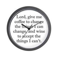 Lord Coffee Wine Wall Clock