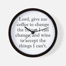 Lord Coffee Wine Wall Clock