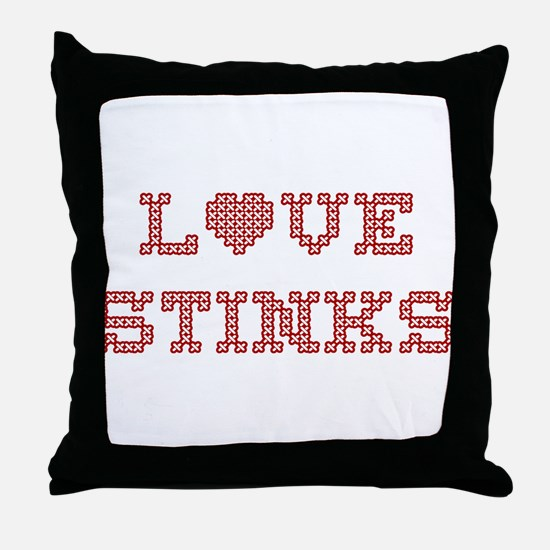 Love Stinks Throw Pillow