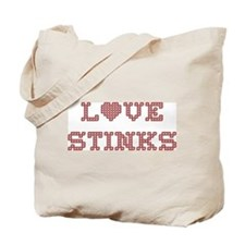 Love Stinks Tote Bag, two sided design