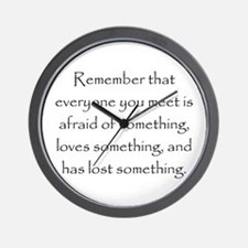 Love Afraid Lost Wall Clock