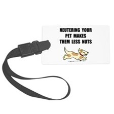 Neutering Nuts Dog Luggage Tag