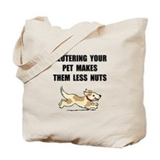 Neutering Nuts Dog Tote Bag