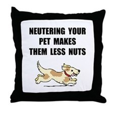 Neutering Nuts Dog Throw Pillow