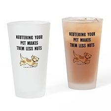Neutering Nuts Dog Drinking Glass