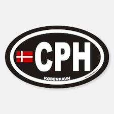 CPH KOBENHAVN Euro Oval Sticker (Inverse)