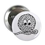 Yarn Ball Cartoon Button