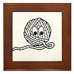 Yarn Ball Cartoon Framed Tile