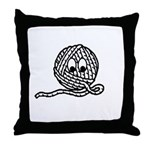 Yarn Ball Cartoon Throw Pillow