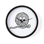 Yarn Ball Cartoon Wall Clock