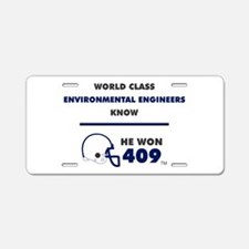 Environmental Engineers Aluminum License Plate