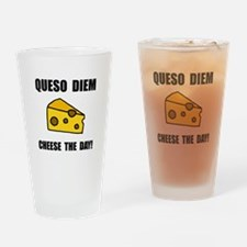 Queso Diem Drinking Glass