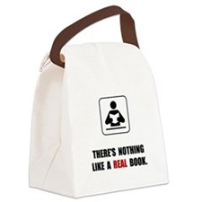 Real Book Canvas Lunch Bag