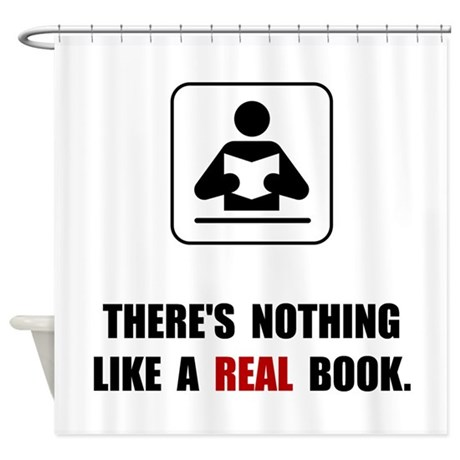 Real Book Shower Curtain