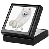 American eskimo dog Keepsake Boxes