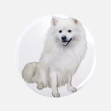 "American Eskmio Dog 3.5"" Button"
