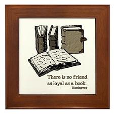 Books-3-Hemingway Framed Tile