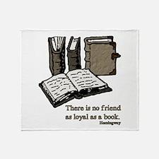 Books-3-Hemingway Throw Blanket