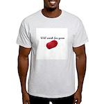 Will Work For Yarn Ash Grey T-Shirt