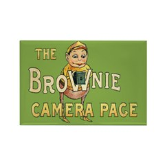 Brownie Camera Page Rectangle Magnet